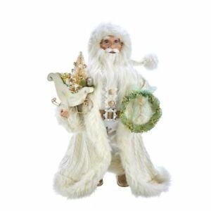 """Kurt Adler 18"""" Kringle Klaus Winter White Santa"""