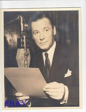 Herbert Marshall on radio VINTAGE Photo