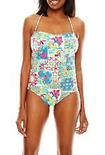 Women's size 12 one piece multi-color Liz Claiborne swimsuit MSRP $86 NWT