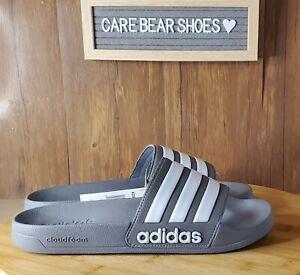 Adidas Adilette Slides Sandal Shoe Grey White B42212 MENS Size 10