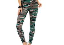 Lange Damen-Leggings mit Camouflage M