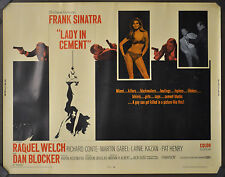 LADY IN CEMENT 1968 ORIG 22X28 MOVIE POSTER FRANK SINATRA RAQUEL WELCH