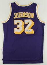 LOS ANGELES LAKERS NBA MAGIC JOHNSON ADIDAS AUTHENTIC XL SIGNED JERSEY PSA DNA