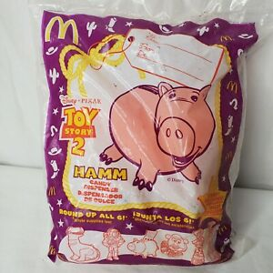 Vintage Toy Story 2 Pig Happy Meal Toy Hamm Candy Dispenser 1999 New