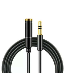 1m  3.5mm Jack Extension Cable Lead Stereo Plug to Socket AUX Headphone Speaker