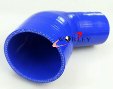 "45 Degree Silicone Reducer Elbow Hose Intercooler Pipe 64mm 51mm 2.5""-2"" BLUE"