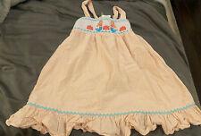 SHRIMP & GRITS Girls Seersucker Smocked Mermaid Dress, Orange, Size 4