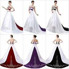 New Wedding Dress Formal Embroidery Ball Gown Bride Dress Bridal Gown Plus Size