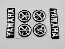 Set 3D Emblem Decal for Yamaha 7cm plus Tuning Fork 3cm Black Silver Racing MT