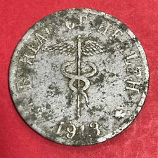 PHILIPPINES CULION LEPER COIN 1913 ONE PESO THIN PLANCHET KM-14 #834
