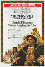 HENRY 8TH/VIII AND HIS SIX WIVES os KEITH MICHELL/JANE ASHER/CHARLOTTE RAMPLING