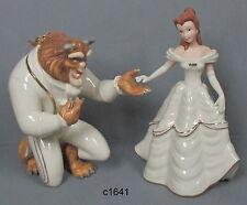 Lenox Disney My Hand My Heart Is Yours Beauty & Beast Belle [set of 2] nib