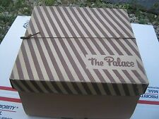 Vintage ?? The Palace Brown and Stripes Hat Box only  good for decor