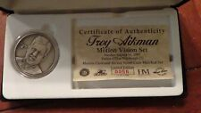 TROY AIKMAN THE HIGHLAND MINT MOTION VISION SET NICKEL SILVER LIMITED EDITION