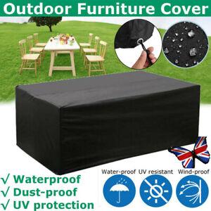 Heavy Duty Waterproof Patio/Garden Furniture Cover Outdoor Large Rattan Table UK