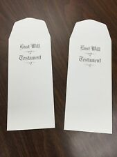 (2) Two Last Will and Testament Legal law lawyer attorney envelopes living will