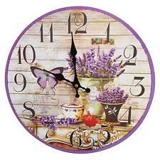 Butterfly Flower Wall Clock Purple - Creative Motion Industries®