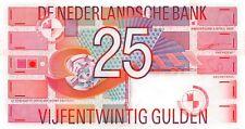 Netherlands 25 Gulden 1989 Geometric designs Unc