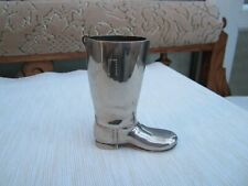 Novelty Riding Boot Drinks Measure Silver Plate 1.5 oz.