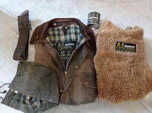 Barbour solway zipper wax jacket chest 40