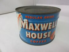 VINTAGE MAXWEL HOUSE  BRAND  COFFEE TIN ADVERTISING COLLECTIBLE M-30