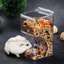 Hamster Rabbit Food Dispenser Feeder Plastic Clear Automatic Feeder Food B Jg