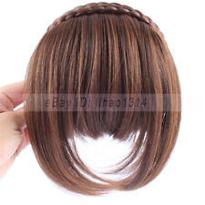 Women's Hair Bangs 2 Braids Hairband Sides Long Hair Invisible Synthetic Fringes
