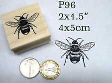 P96 Large Bee rubber stamp