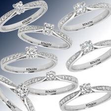 Anillos de joyería con diamantes blancos compromiso