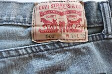 Levis Men's Jeans 501 W34 L32 Black/Gray Button Fly, Gently used