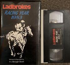 LADBROKES RACING YEAR 1983:BROUGH SCOTT-VHS VIDEO BIG BOX. RARE.