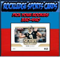 2019 Score Football Rookie Singles 331-440 (Pick Your Cards)