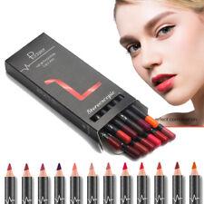 12 PCS Lipstick Lip Liner Pen Waterproof Long Lasting Matte Pencil Makeup Set