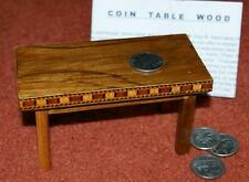 Wooden COIN TABLE - coins thru miniature table!   Charismatic prop          TMGS