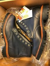 Chippewa 1901G32 Black Mens Whirlwind Lace Up Plain Toe Leather  NEW in BOX 8D