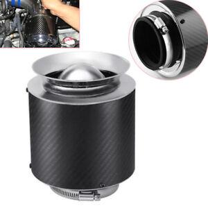 "3"" Inlet /5"" Carbon Fiber Hi-Flow Air Filter For Cold Air/Short Ram Intake Solid"