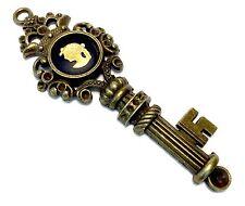 Wedgwood Jewelry: Authentic, Jasperware Cameo Antique Bronze Large Key Pendant