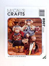 "Honey Bee Mine Bears McCall's Crafts Pattern#8507-14"" Bears-20 Pieces"