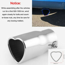 63mm Inlet Dia Burn Heart Shaped Car SUV Exhaust Pipe Muffler Tip Creative Gifts
