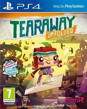 Tearaway Unfolded [PlayStation 4 Ps4, Region Free, Magic Paper World] New