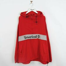 Vintage 90s Timberland 1/4 Zip Pullover Windbreaker Spell Out Jacket Red Size L