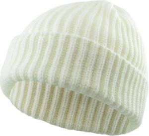 Thick Ribbed Beanie Knit Ski Cap Skull Hat Winter Cuff Blank - Kbethos