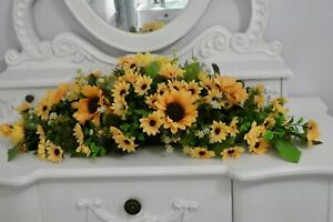 Wedding Top table centre piece natural sunflowers