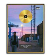 Sch Poster, JVLIVS 2  GOLD/PLATINIUM CD, gerahmtes Poster HipHop Rap WallArt