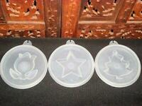 Tupperware Jello Mold ~Jel-N-Serve Seals Flower, Star and Christmas tree