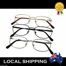 G&G Men's Men Mens Ladies Reading Glasses Gold/Silver/Black/Blue +1.0 to +3.5