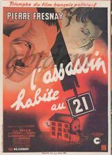 """CP affiche du film """" Assassin habite au 21 """" Pierre FRESNAY Suzy DELAIR Larquey"""