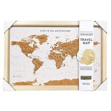 Splosh Small Personalised Australia Travel Map 36.5 X 53.5cm Cork Board