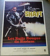 Affiche de cinéma : SHAFT, LES NUIT ROUGES DE HARLEM de Gordon PARKS