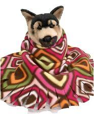 Rainbow Squares, Fuzee Fleece Dog Blankets, Soft Pet Blanket Travel Throw Cover
